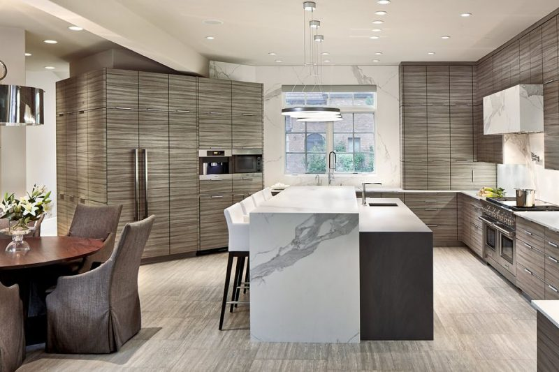 Stone centric kitchen designs